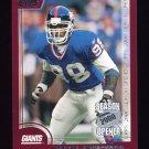2000 Topps Season Opener Football #160 Jessie Armstead - New York Giants