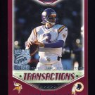 2000 Topps Season Opener Football #085 Jeff George - Washington Redskins