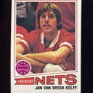 1977-78 Topps Basketball #109 Jan Van Breda Kolff - New Jersey Nets