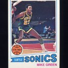 1977-78 Topps Basketball #099 Mike Green - Seattle Sonics