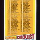 1977-78 Topps Basketball #029 Checklist 1-132 NM-M