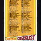 1977-78 Topps Basketball #029 Checklist 1-132 P