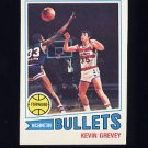 1977-78 Topps Basketball #023 Kevin Grevey RC - Washington Bullets