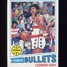 1977-78 Topps Basketball #007 Leonard Gray - Washington Bullets