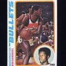 1978-79 Topps Basketball #092 Bob Dandridge - Washington Bullets