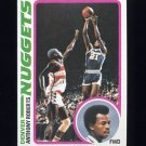 1978-79 Topps Basketball #062 Anthony Roberts - Denver Nuggets