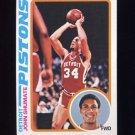 1978-79 Topps Basketball #046 John Shumate - Detroit Pistons