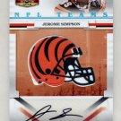 2008 Donruss Gridiron Gear NFL Teams Rookie Signatures #NFLT-17 Jerome Simpson - Bengals AUTO /30