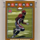2008 Topps Chrome Gold Refractors #TC211 Jerome Simpson RC - Cincinnati Bengals 178/199