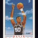 1991-92 Fleer Pro-Visions Basketball #1 David Robinson - San Antonio Spurs
