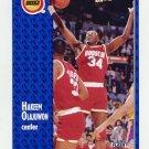1991-92 Fleer Basketball #077 Hakeem Olajuwon - Houston Rockets