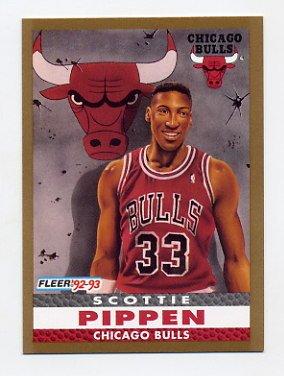 1992 93 Fleer Basketball 254 Scottie Pippen