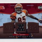 2007 Artifacts AFC/NFC Apparel Red #CJ Chad Johnson - Cincinnati Bengals Game Used Jersey 001/250