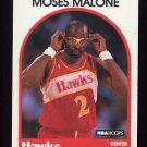 1989-90 Hoops Basketball #290 Moses Malone - Atlanta Hawks