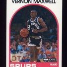 1989-90 Hoops Basketball #271 Vernon Maxwell RC - San Antonio Spurs