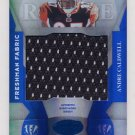 2008 Leaf Certified Materials Mirror Blue Materials #201 Andre Caldwell Game-Used Jersey /50