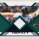 2008 Stadium Club Football Impact Relics Gold #IRRL Ray Lewis - Ravens Game-Used Jersey /50