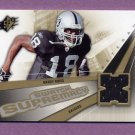 2006 SPx Football Swatch Supremacy #SWRM Randy Moss - Oakland Raiders Game-Used Jersey