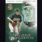 2003 Fleer Focus JE Team Colors #17 Barry Zito - Oakland Athletics