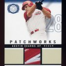 2003 Fleer Patchworks Game-Worn Patch 300 #PW-AK2 Austin Kearns - Reds Game-Used Jersey /300