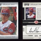 2003 Playoff Portraits Autographs Silver #43 Austin Kearns - Cincinnati Reds AUTO 13/15