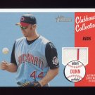 2003 Topps Heritage Clubhouse Collection Relics #AD Adam Dunn - Cincinnati Reds Game-Used Jersey