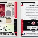 2004 Absolute Memorabilia Absolutely Ink Combo Material #12 Austin Kearns Jersey, Bat, AUTO