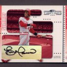 2004 Donruss Timelines Boys of Summer Autograph #013 Eric Davis - Cincinnati Reds AUTO