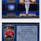 2004 Leaf Certified Cuts Marble Blue #059 Austin Kearns - Cincinnati Reds 16/50