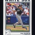 2004 Topps Baseball #233 Jose Valentin - Chicago White Sox