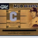2005 Prime Cuts MLB Icons Material Jersey Position #24 Johnny Bench - Reds Game-Used Jersey /50