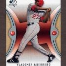 2007 SP Authentic Baseball #073 Vladimir Guerrero - Los Angeles Angels