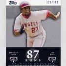 2007 Topps Moments and Milestones #042 Vladimir Guerrero - Los Angeles Angels /150
