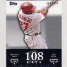 2007 Topps Moments and Milestones #041 Vladimir Guerrero - Los Angeles Angels /150