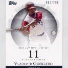 2007 Topps Moments and Milestones #040 Vladimir Guerrero - Los Angeles Angels /150