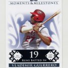 2008 Topps Moments and Milestones #135-19 Vladimir Guerrero - Los Angeles Angels /150