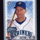 2000 Topps Opening Day #164 Alex Rodriguez - Seattle Mariners