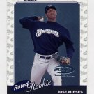 2001 Donruss Baseball #175 Jose Mieses RC - Milwaukee Brewers /2001