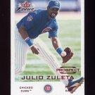 2001 Fleer Focus Baseball #204 Julio Zuleta RC - Chicago Cubs /2499
