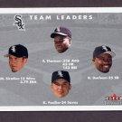 2001 Fleer Tradition Baseball #442 Chicago White Sox CL / Frank Thomas