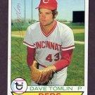 1979 Topps Baseball #674 Dave Tomlin - Cincinnati Reds AUTO