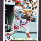 1979 Topps Baseball #401 Ray Knight - Cincinnati Reds AUTO