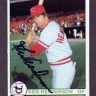 1979 Topps Baseball #073 Ken Henderson - Cincinnati Reds AUTO