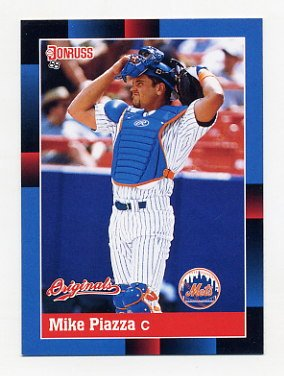 2002 Donruss Originals Baseball #392 Mike Piazza - New York Mets