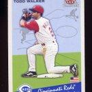 2002 Fleer Tradition Baseball #407 Todd Walker - Cincinnati Reds