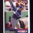 2002 Topps Total Baseball #650 Alex Rodriguez - Texas Rangers