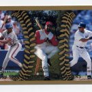 1999 Topps Baseball #458 Vladimir Guerrero / Greg Vaughn / Bernie Williams
