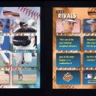 1996 Pinnacle Aficionado Rivals #11 Cal Ripken / Frank Thomas
