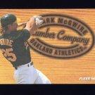1996 Fleer Lumber Company #05 Mark McGwire - Oakland Athletics