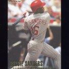 1996 Fleer Baseball #351 Reggie Sanders - Cincinnati Reds
